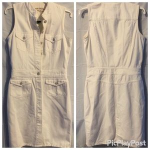 Ralph Lauren White Denim Dress Sleeveless SZ 8 EUC